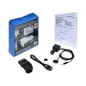 "KENSINGTON ""LIQUIDAUX"" CAR AUDIO ADAPTER FOR IPHONE AND IPOD"