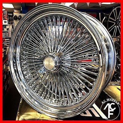 22X8 Std 150 Spoke Wire Wheels Straight Lace Chrome Rims  4Pcs