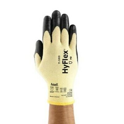 New Ansell Hyflex 11-500 Size 7 Kevlar Lined Cut Level 2 Safety Glove 12 Pack