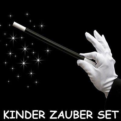 German Trendseller® - Zauberstab + Weiße Baumwoll Handschuhe - Weiße Handschuhe Für Kinder