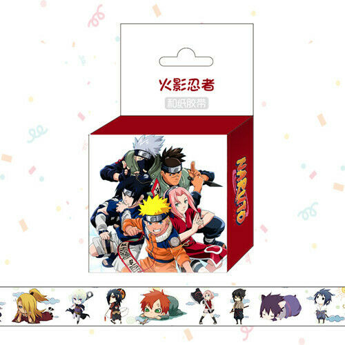 Hot Anime Naruto Cosplay DIY Paper Maksing Washi Tape Stickers
