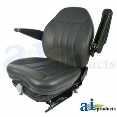 His360 Universal High Back Industrial Seat W Suspension Slide Track Armrests