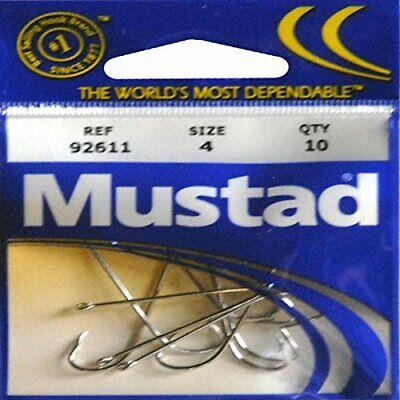 - Mustad Hooks Long Shank Beak Nickel Size 4 Poly Bag 10 per pk #92611-4 pc26