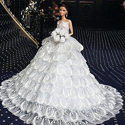 WayIn? Gorgeous Handmade Wedding Dress Made to Fit the Barbie Doll White