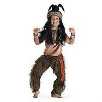 Disney Store TONTO Costume & Feather Crow Wig Headdress Boys The Lone Ranger - The Lone Ranger Kostüm Disney