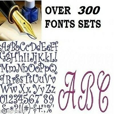 Alphabet Fonts  Embroidery Machine Designs Brother Baby Lock PES