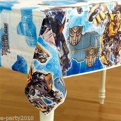 TRANSFORMERS Revenge of the Fallen PLASTIC TABLE COVER ~ Birthday Party Supplies