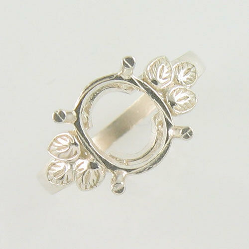 PRE-NOTCHED DESIGNER 10x8 OVAL SOLITAIRE RING .925 STERLING SILVER CR40SS