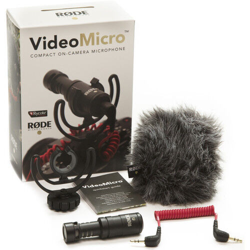 Rode VideoMicro Compact On-Camera Microphone with Rycote Lyr