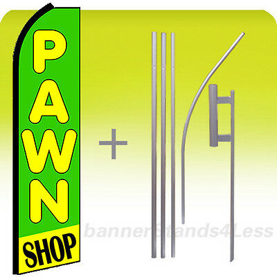 Pawn Shop Swooper Flag Kit Feather Flutter Banner Sign 15 - Gz
