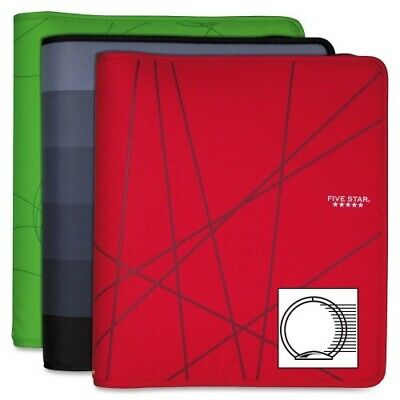 Mead Five Star Zipper Round Ring Binder 12 X 13-34 Assorted 29258