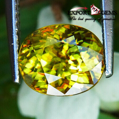 UNHEATED 2.65CT BEAUTIFUL NATURAL YELLOW OVAL SPHENE
