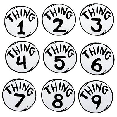Dr. Seuss Thing 1-9 Printed Patches Set by elope (Thing 1 Dr Seuss Costume)