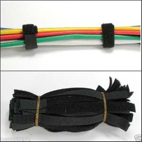 Velcro Cable Ties Black Ebay