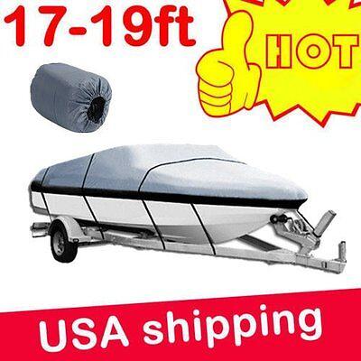 17-19 ft Trailerable Boat Cover Waterproof V-Hull 95'' Beam Heavy Duty GBT2H VP
