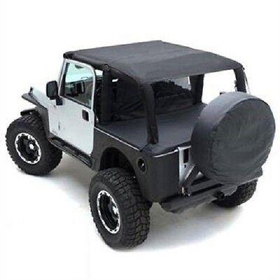Smittybilt 1997-2006 Jeep Wrangler TJ Rubicon Black Denim Summer Top Bundle 1997 Jeep Wrangler Denim