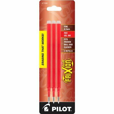 Pilot Frixion Erasable Gel Ink Pen Refill Fine Point 3 Per Pack