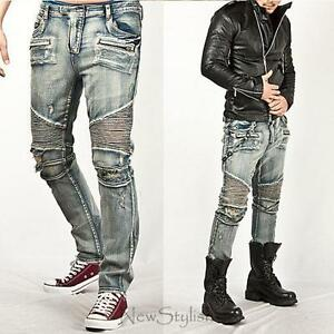 Mens Distressed Jeans | eBay