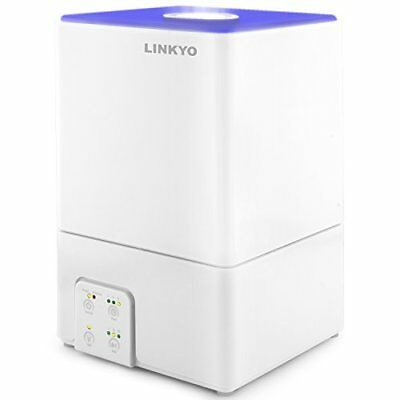 LINKYO Standoffish Mist Humidifier - Filter Free Ultrasonic Operation with Large 1
