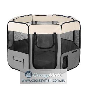 Dog Playpen Portable Foldable Blue/Grey/Red Melbourne CBD Melbourne City Preview
