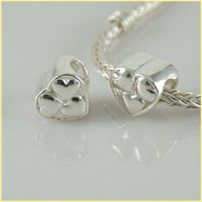 Love Heart Charm Bead 925 Sterling Silver