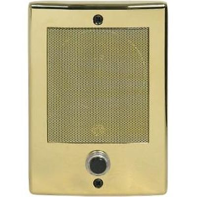Music and Sound LINEAR BD3BN Door Speaker Bright Brass With Bell Button