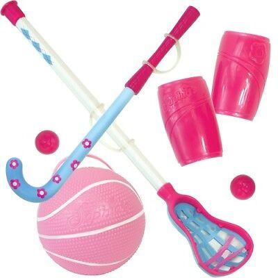 (Sports Equipment Set Hockey Lacr Basketball for 18