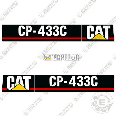 Caterpillar Cp433c Vibratory Smooth Drum Roller Decals Cp-433c