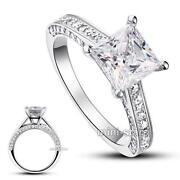 Silver Princess Cut Rings
