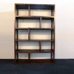 Bookcase, W.120xD.32xH.180, Timber, Cube Bookcase, Storage Unit, Hughesdale Monash Area Preview