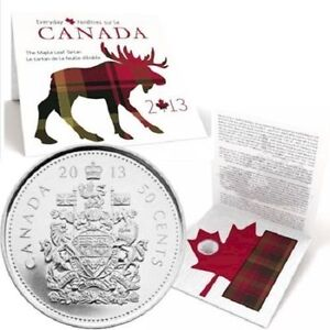 2013 Canada 50-cent Maple Leaf Tartan Everyday Canada Coin Card