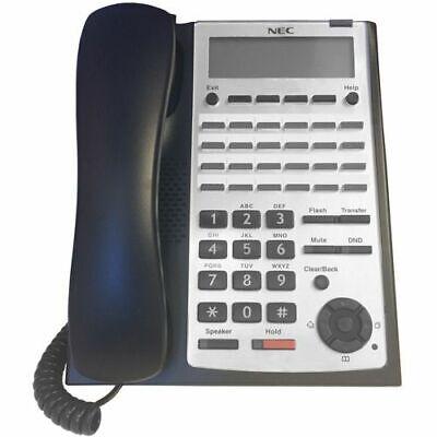 Nec Sl1100 Phone Ip4ww-24txh-b-tel Bk 1100063 Black Refurb -90 Day Warranty-
