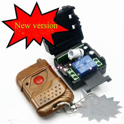DC 12v 10A relay 1CH wireless RF Remote Control Switch Transmitter+ ReceiverSN