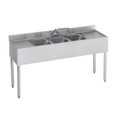 Krowne Metal 18-53c Ss Underbar Sink 3 Centered Compartments 60wx18dx33h