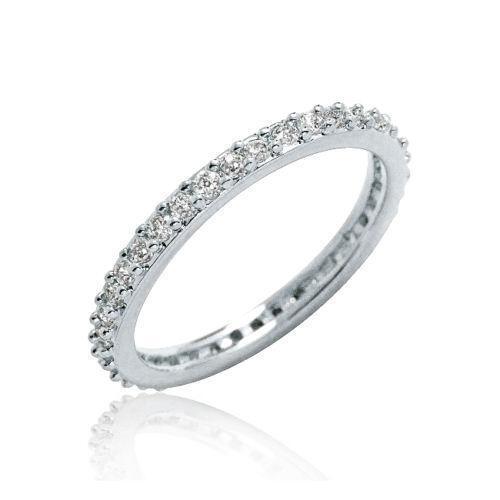 Silver CZ Eternity Ring