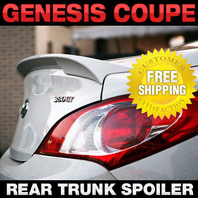Rear Trunk Lip Spoiler Lid Airoparts Black For HYUNDAI 2009-2017 Genesis Coupe