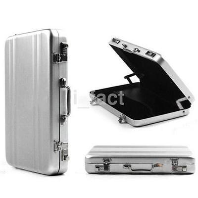Lockbox Shape Business Id Credit Card Holder Aluminum Metal Pocket Case Box Us