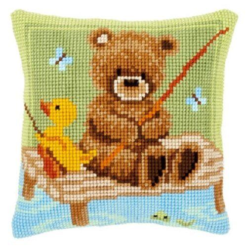 "Vervaco POPCORN FISHING Chunky Cross Stitch Cushion Front  Kit  16"" X 16"""