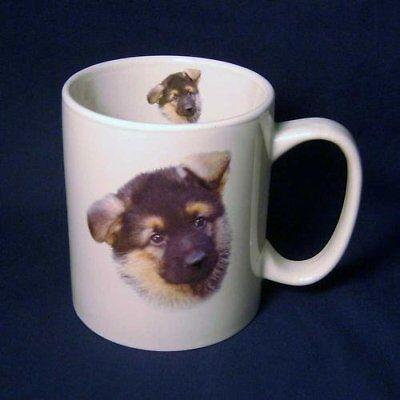 (Cute German Shepherd Puppy Dog Large Coffee Mug)