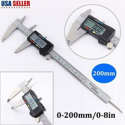 200mm Stainless Steel Electronic Digital Vernier Caliper 0-8inch Lcd Diplay Us
