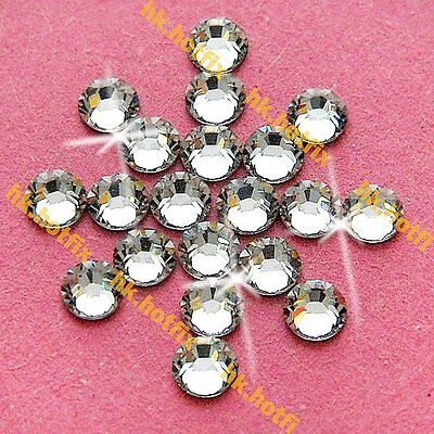 Authentic Swarovski Crystal Clear ( NO Hotfix ) Flatback Rhinestone Nail Art Gem
