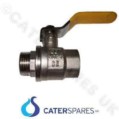 "как выглядит Фритюрница ON / OFF GAS LEVER BALL VALVE YELLOW HANDLE 1"" FEMALE 1"" MALE ISOLATOR PARTS фото"