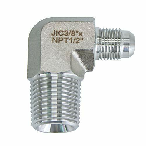 "HFS(R) Elbow, 1/2"" Male NPT to 3/8"" JIC Male SS304 Forged Pipe Fitting,"