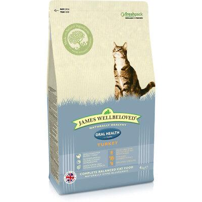 JAMES WELLBELOVED ADULT ORAL HEALTH TURKEY COMPLETE DRY CAT FOOD 1.5KG
