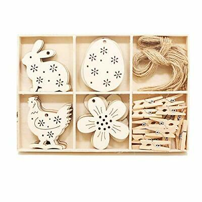 Easter Craft Supplies Wood Easter Decorations Wooden Ornaments Kits Unfinishe...