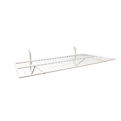 Only Hangers White Wire Slatwall Gridwall Shelf 24l X 12d