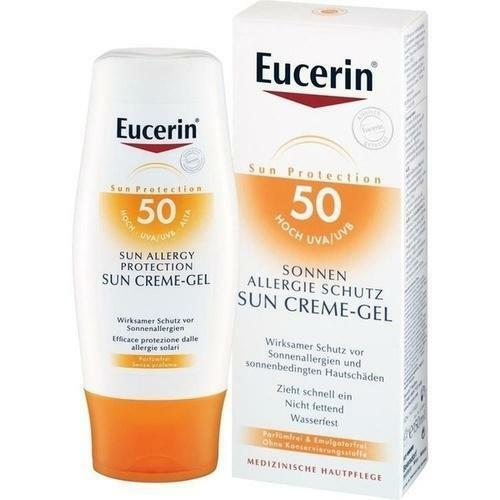 EUCERIN Sun Allergie Gel 50+ 150 ml PZN 7415483
