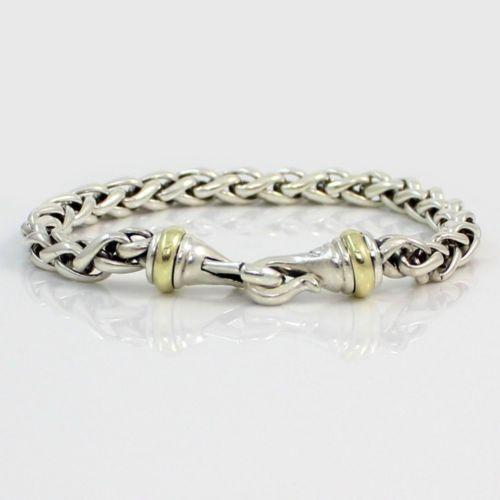 david yurman silver gold bracelet ebay
