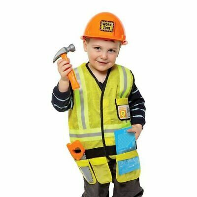 Melissa & Doug Let's Pretend construction worker Role Play Set halloween dressup