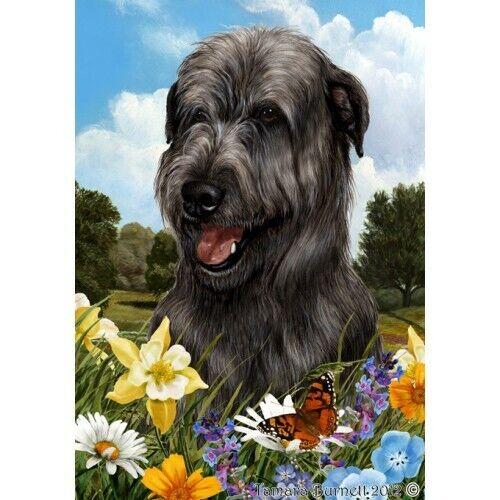 Summer House Flag - Black Irish Wolfhound 18164